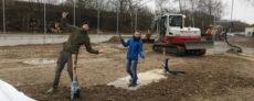 Platzbau - 385 frische Tonnen Sand